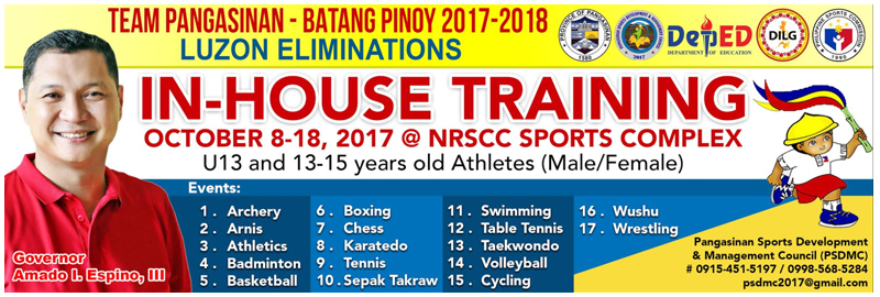 batang pinoy-in house training