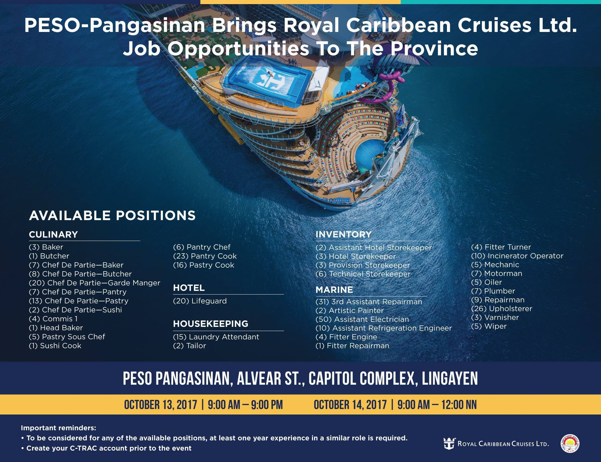 cruise ship job fair