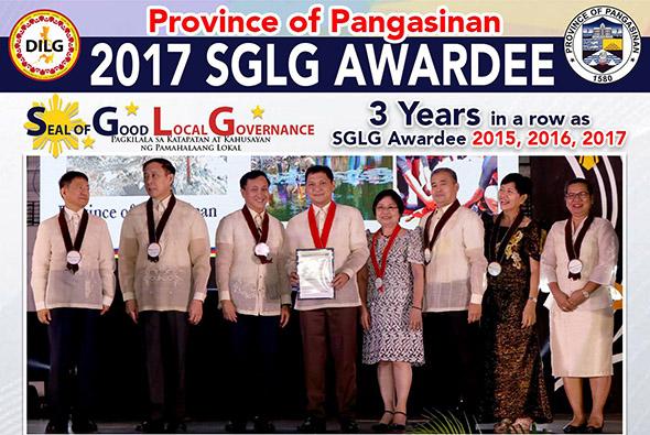 Pangasinan bags 2017 Seal of Good Local Governance Award