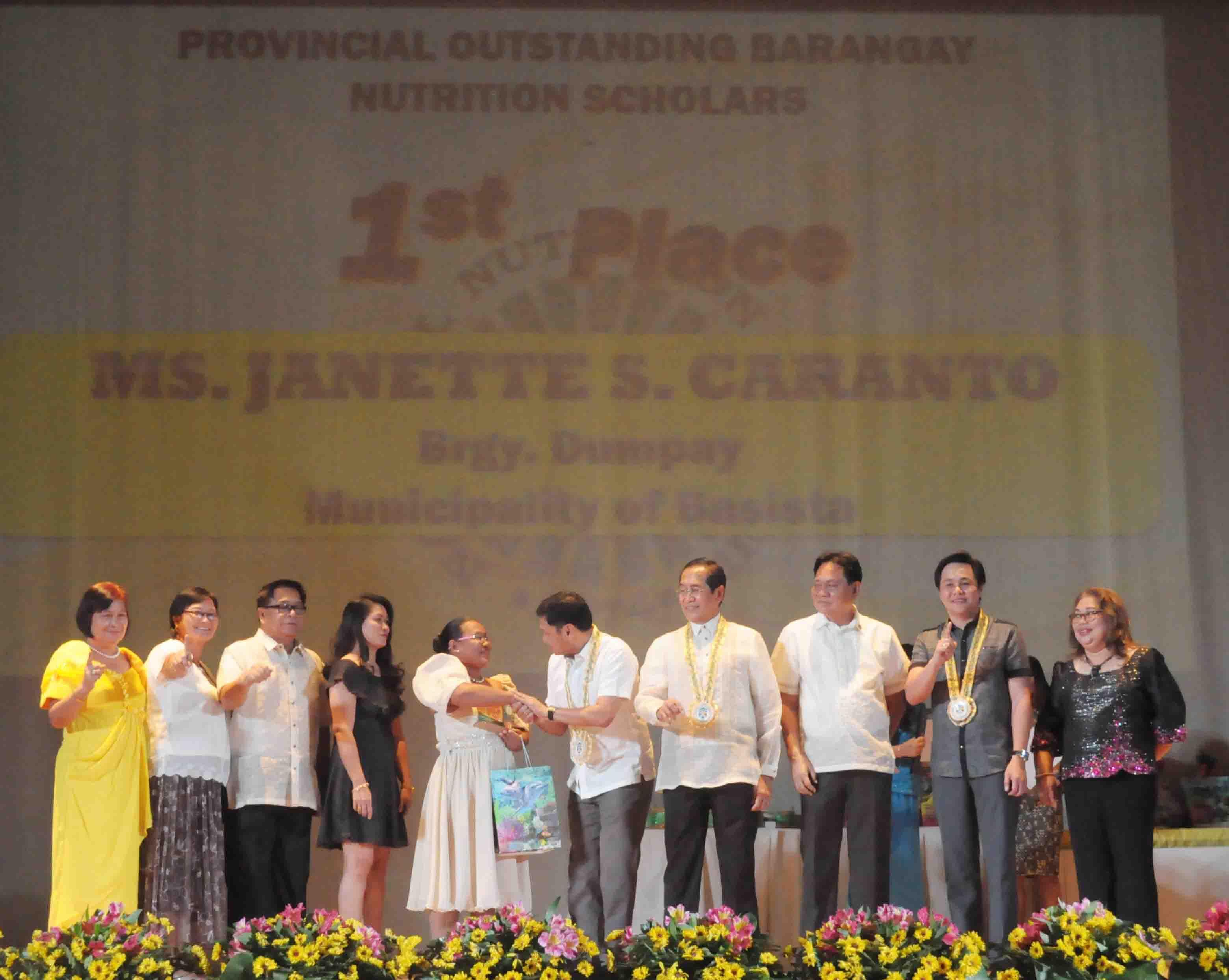 outstanding barangay nutrition scholars