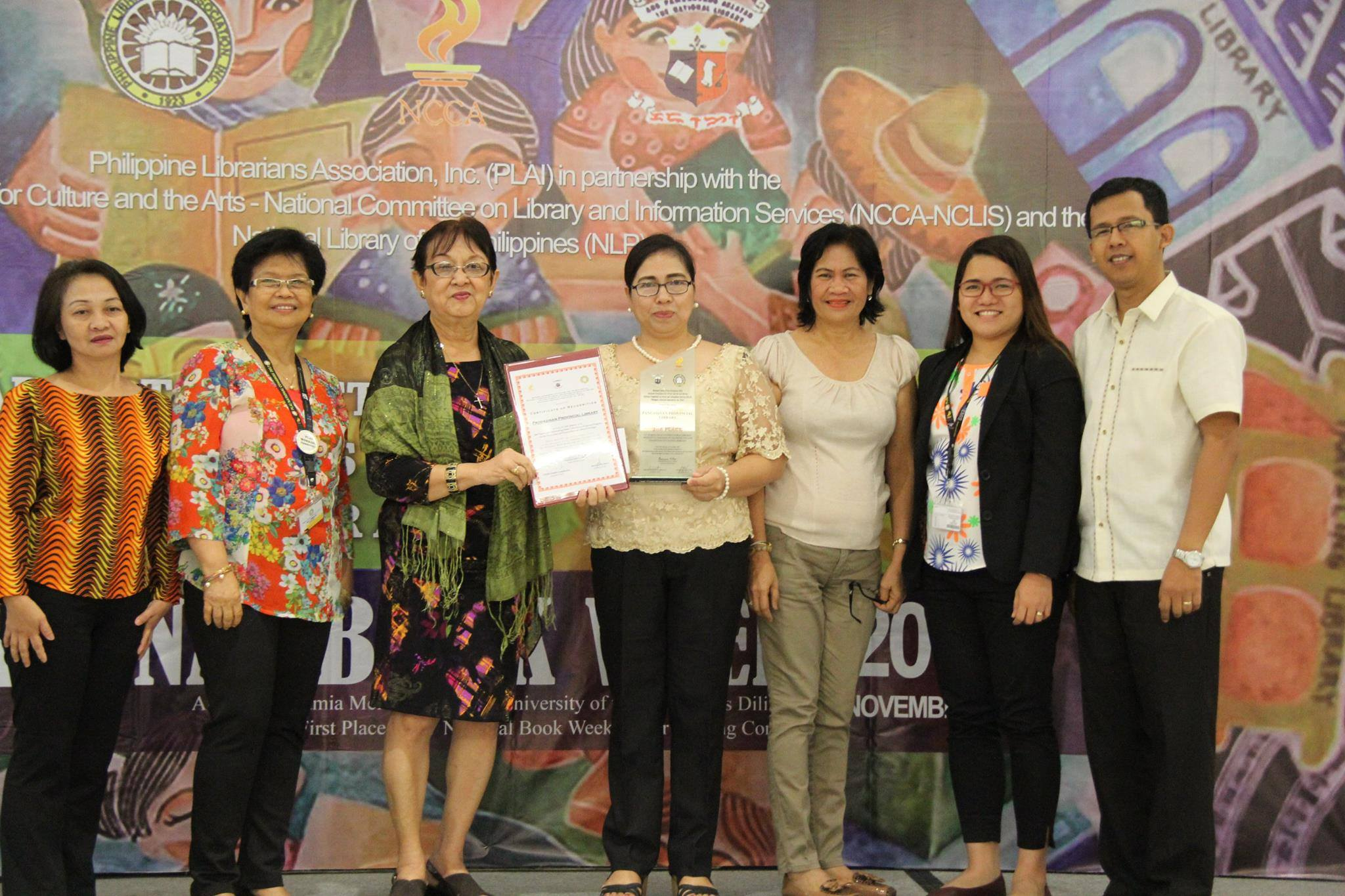 The Pangasinan Provincial Library bags the second place in the national search outstanding public libraries with special programs on the protection and preservation of cultural heritage
