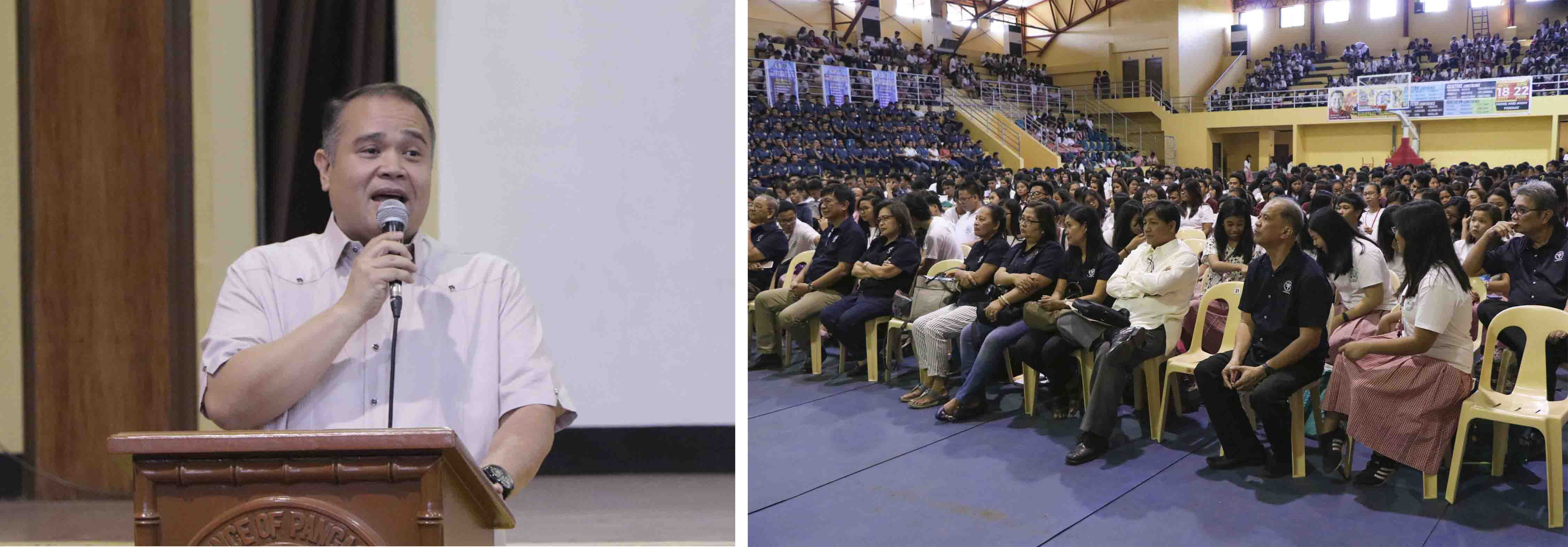 Vice Governor Jose Ferdinand Z. Calimlim, Jr. urges Pangasinenses, young and old alike, to meditate during the sacred time of lent as he joins the 1st Provincial Lenten Recollection and Marketplace Evangelization Program held at the Narciso Ramos Sports and Civic Center (NRSCC) Gymnasium on March 14.