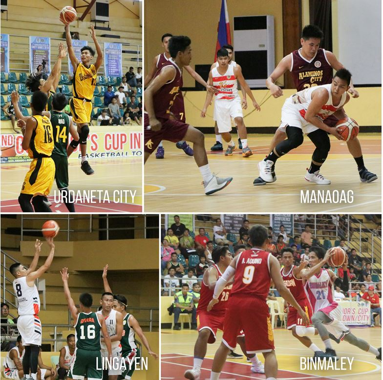 Teams Lingayen, Binmaley, Manaoag and Urdaneta will be competing in the semi-finals of 2nd Governor's Cup Inter-Town/City Basketball Tournament on March 10, 17 and 25 (if necessary) at the Narciso Ramos Sports and Civic Center NRSCC gym.