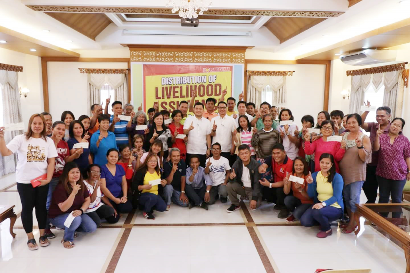 governor amado espino jr. leads the distribution of livelihood cheque