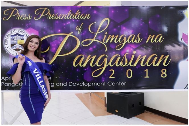 Joy May Anne F. Barcoma of Villasis town has been adjudged 'Darling of the Press' of the 2018 Limgas na Pangasinan beauty search