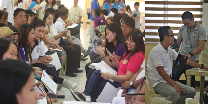 Capitol employees availed of services offered by the government employees during the health and wellness check-up