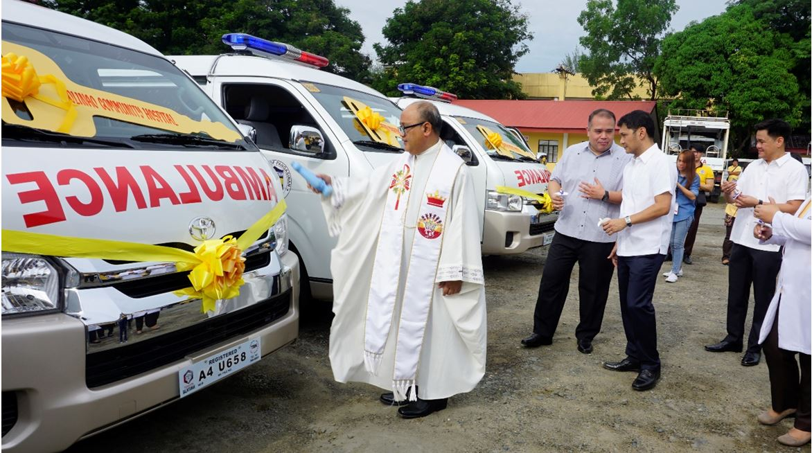 Blessing and turn-over of 12 service vehicles