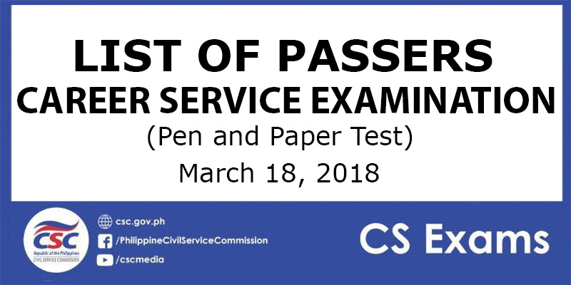csc list of passers