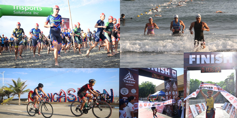 About 600 triathletes from various parts of the country converged in the 'bigger and better' Tigasin Triathlon