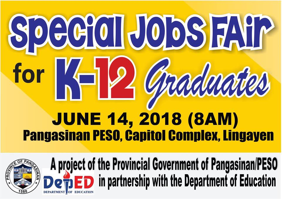 special jobs fair for k-12 graduates