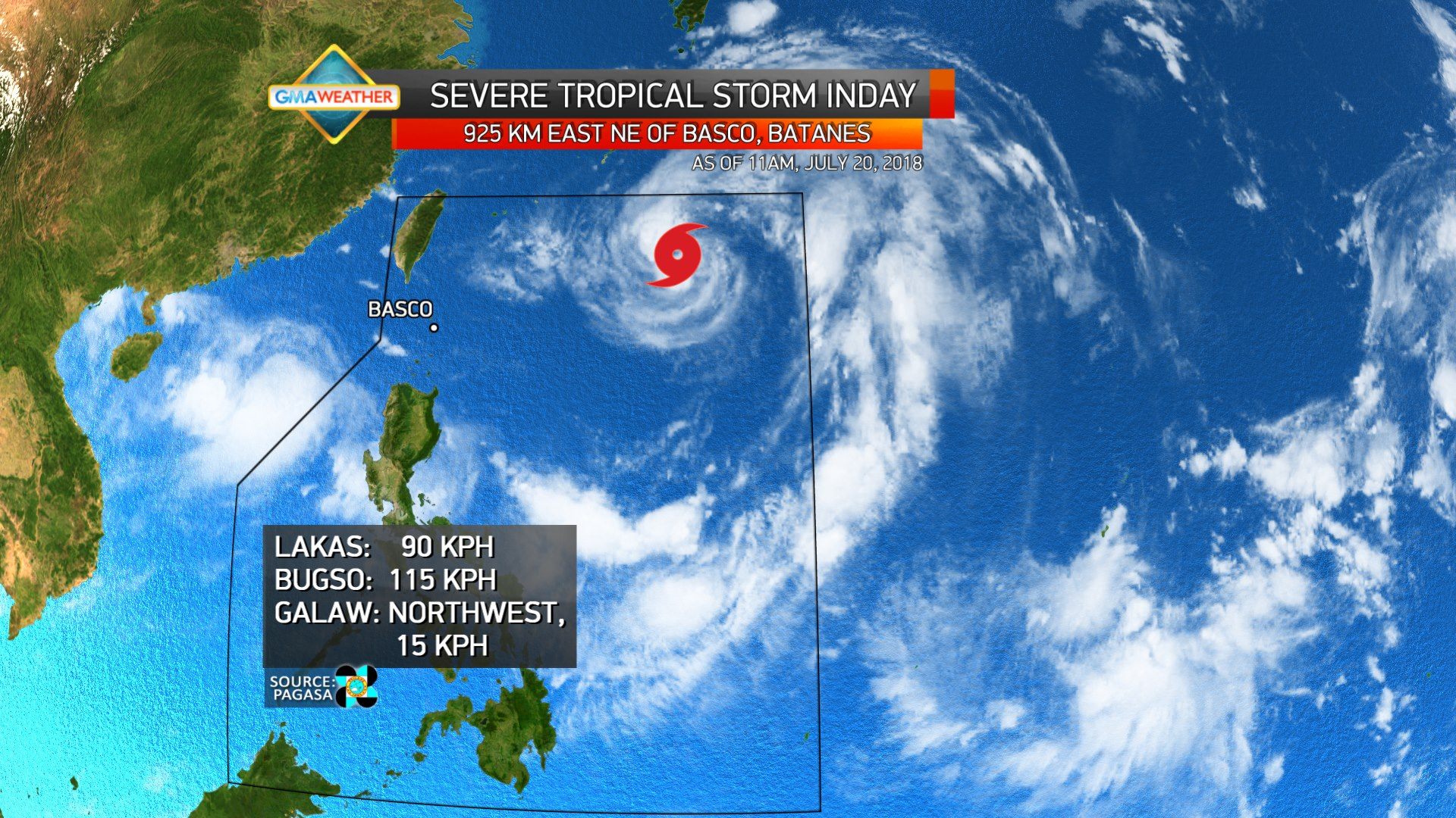 severe tropical storm inday