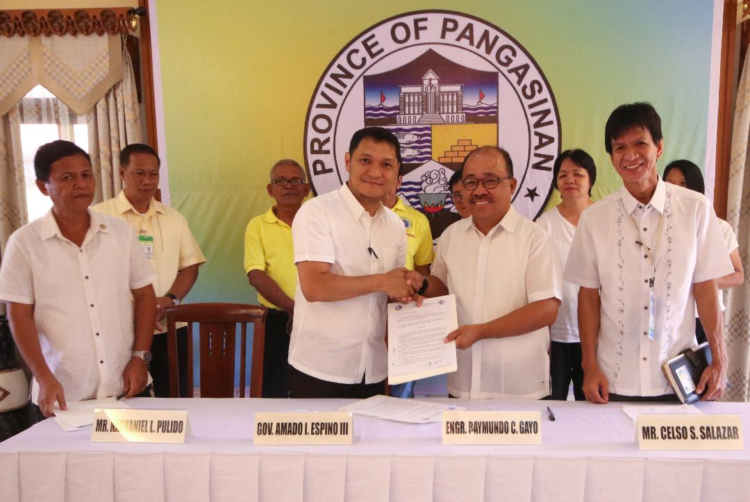 Governor  Espino inks tie up with DENR for Agroforestry Farm in Bugallon