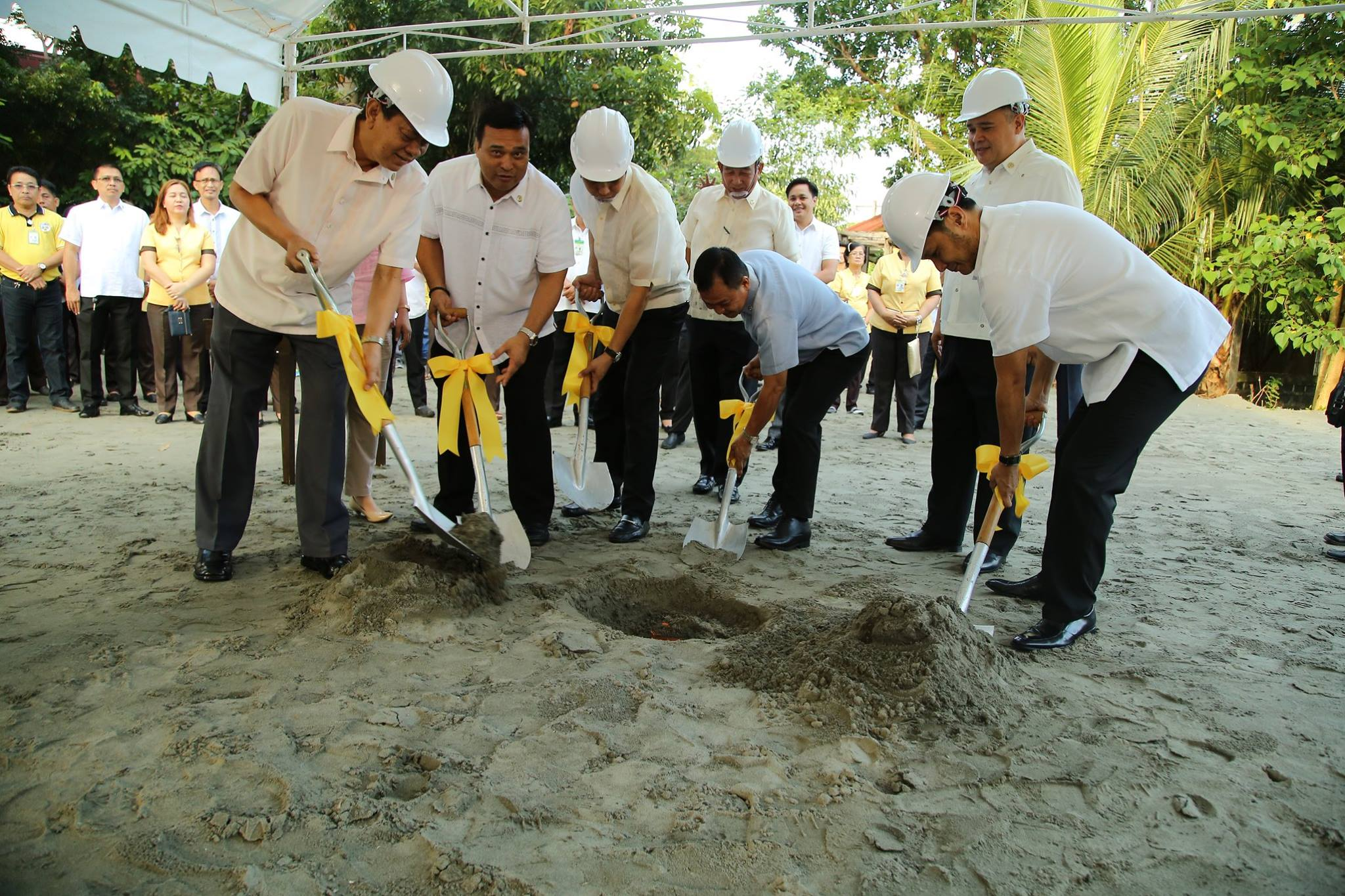 groundbreaking of 3-storey building