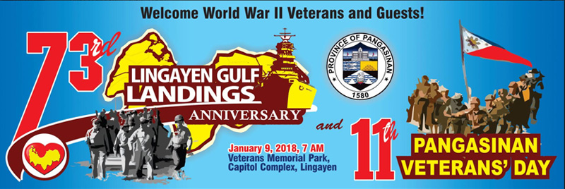 73rd Lingayen Gulf Landings Anniversary and 11th Pangasinan Veterans' Day on January 9, 2018 at the Veterans Memorial Park in Lingayen